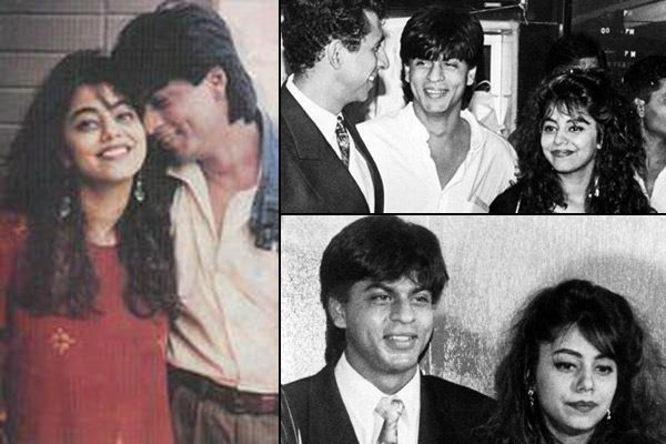Image result for shahrukh and gauri young
