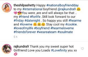Shilpa Shetty S Heartfelt Message On National Boyfriend S Day To International Boyfriend Raj Kundra