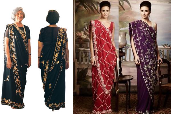 Image result for parsi saree drape