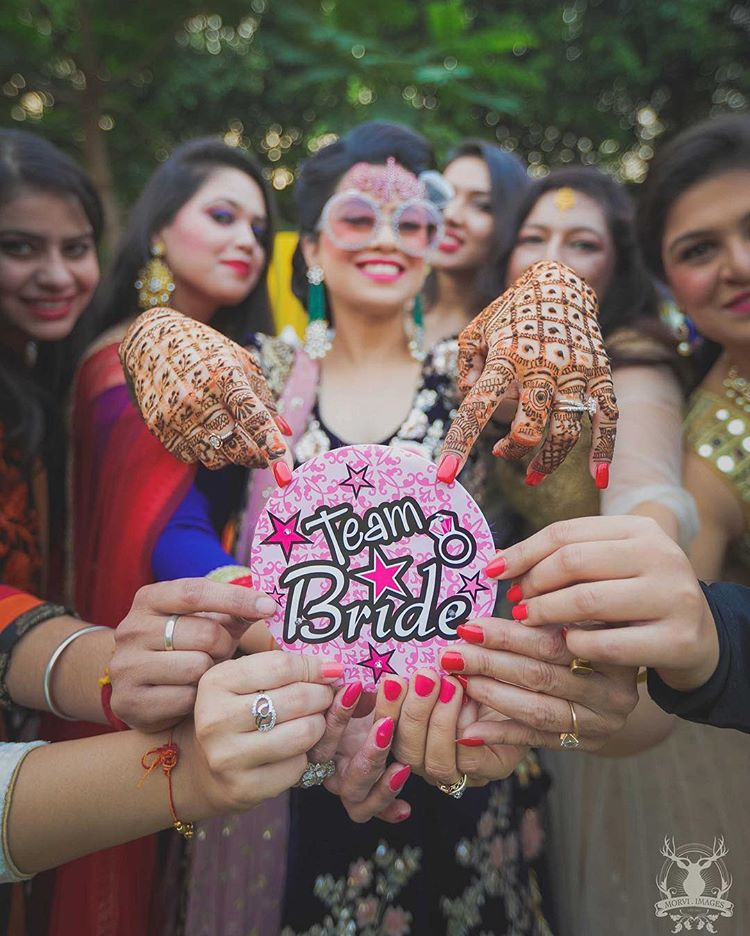 12 Props Ideas To Create Moments To Cherish With Your Bridesmaids At The Pre Wedding Photo Shoot