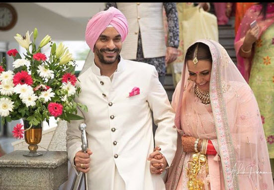 Neha Dhupia S Heart Skips A Beat Seeing Her Husband Angad Bedi In Uniform For Gunjan Saxena