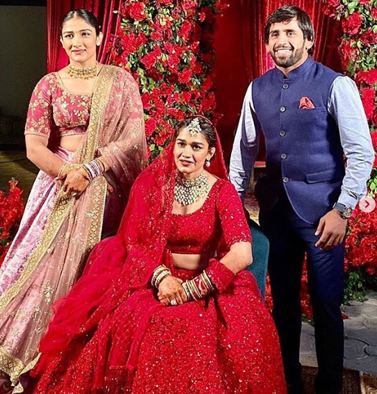 Babita Phogat Wears The Exact Same Red Bridal Lehenga That