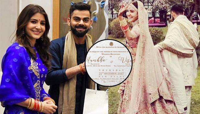 Anushka And Virat S Wedding Reception Invitation Card For