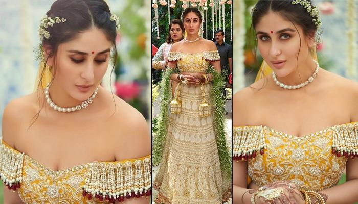 Veere Di Wedding Outfits.Kareena Kapoor Khan Wore Abu Jani Sandeep Khosla S 25 Year Old