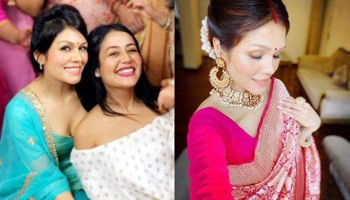Sonu Kakkar Posts Pictures With Hubby On Karwa Chauth Looks Beautiful In Sindoor And Saree