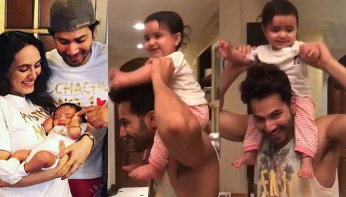 Varun Dhawan Becomes Chachu No 1 As He Gives Piggyback Ride To His ...