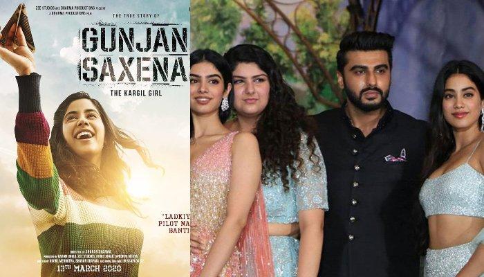Janhvi Kapoor S Half Siblings Anshula And Arjun Kapoor S Adorable Reaction On Gunjan Saxena Poster