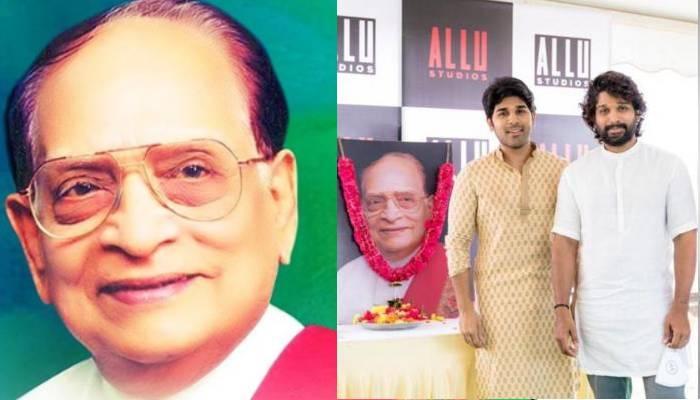 अल्लू अर्जुन ने अपने दादा को दी श्रद्धांजलि, उनके नाम के स्टूडियो का किया उद्घाटन
