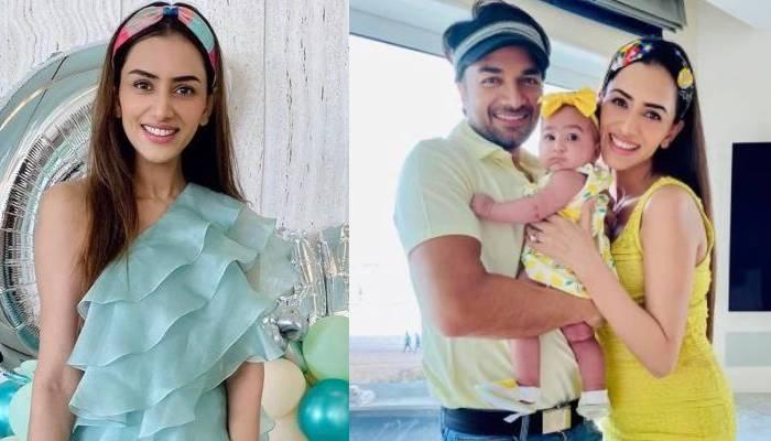 स्मृति खन्ना ने मनाया बेटी अनायका का बर्थडे, मैचिंग ड्रेस में नजर आई मां-बेटी की जोड़ी