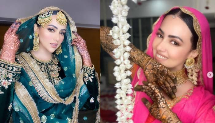 निकाह के बाद सना खान ने शेयर की खूबसूरत तस्वीरें, हरे कलर के शरारा सूट में लग रहीं नई नवेली दुल्हन