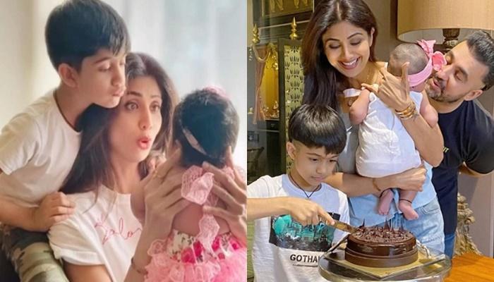 शिल्पा शेट्टी के बेटे वियान ने छोटी बहन के लिए बनाया 'ब्राउनी केक', एक्ट्रेस ने शेयर किया वीडियो