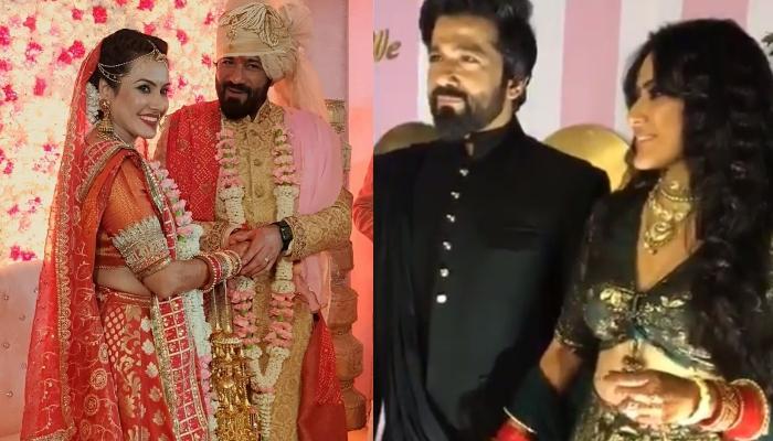 Kamya Panjabi Wedding Reception: काम्या पंजाबी ने पति शलभ दांग संग किया ट्विन, देखिए अनदेखी फोटोज