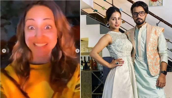 ढोल की ताल पर यूं नाचती नजर आईं हिना खान, ब्वॉयफ्रेंड रॉकी संग लोहड़ी के त्योहार पर ऐसे मचाया धमाल