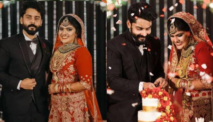 साउथ सुपरस्टार ममूटी की पोती फरजाना अनूब से एक्टर रोशन बशीर ने की शादी, देखें तस्वीरें