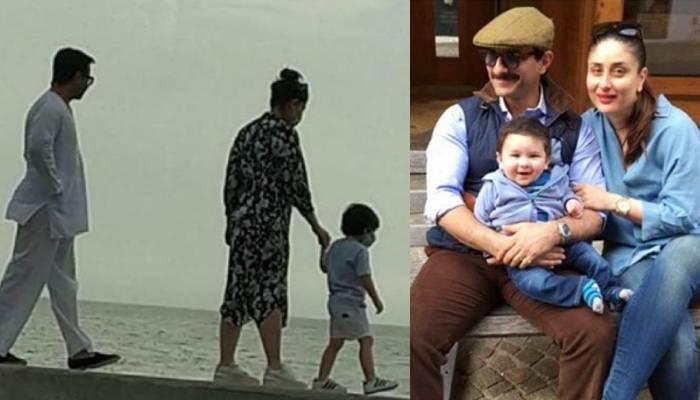 अम्मी करीना और अब्बू सैफ के संग मरीन ड्राइव घुमने निकले 'नन्हें नवाब' तैमूर अली खान, देखें वीडियो