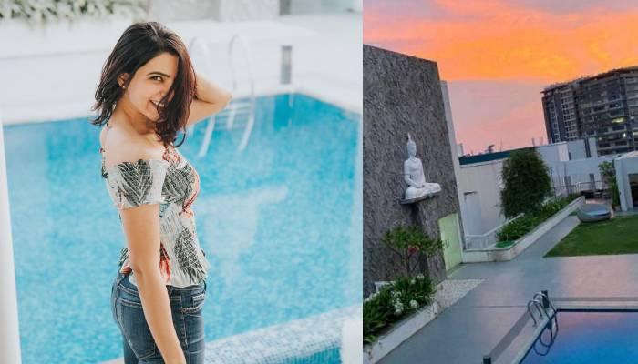सामंथा अक्किनेनी के घर की तस्वीरें: स्वीमिंग पूल से एक्ट्रेस को है बहुत लगाव, देखें फोटोज