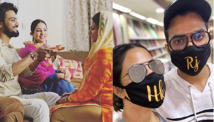 हिना खान ने बॉयफ्रेंड रॉकी की बहनों से बंधवाई राखी, सामने आई ये अमेजिंग फोटोज