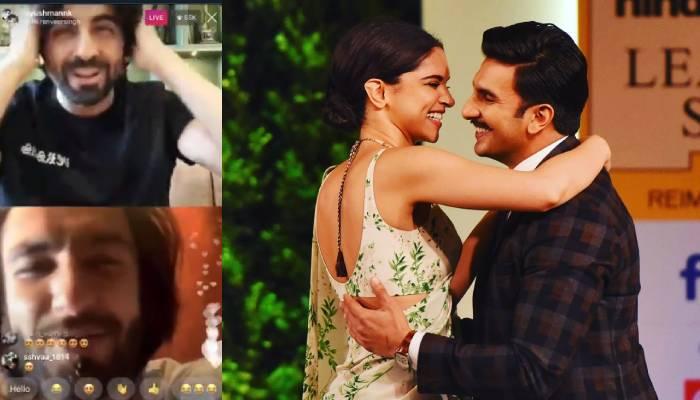 आयुष्मान खुराना से बात कर रहे थे रणवीर सिंह तभी दीपिका ने लगाई फटकार, देखें वीडियो