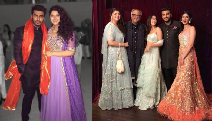 रणबीर कपूर की बहन के शादी में अपनी मां और बहन के साथ ऐसे पहुंचे थे अर्जुन कपूर, देखें फोटो