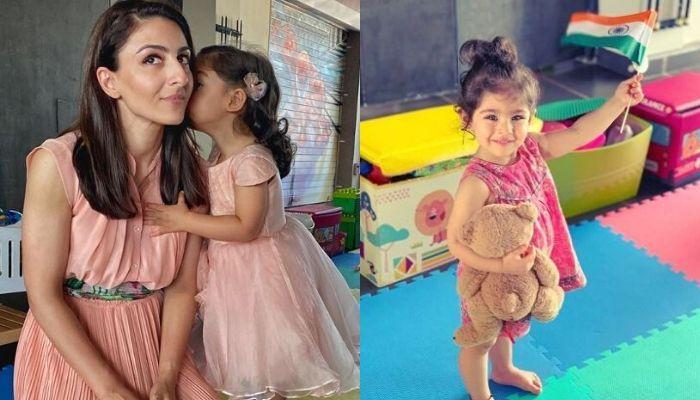 एक्ट्रेस सोहा अली खान ने शेयर की बेटी की क्यूट फोटो, देखें कैसे इनाया कर रही हैं 'ग्लोब' की सफाई